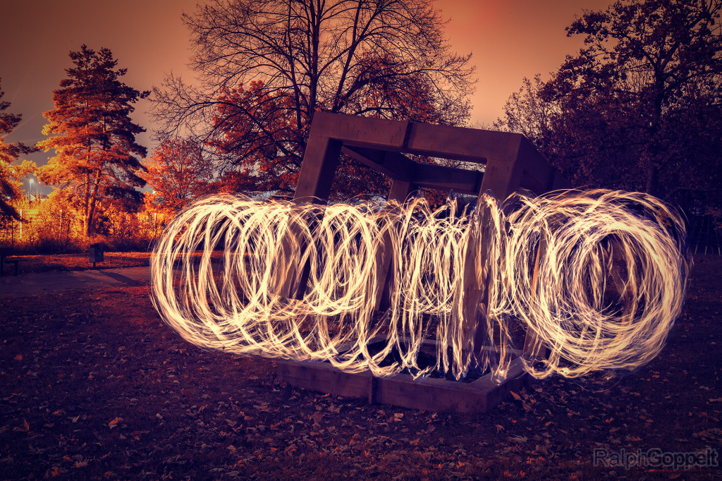 Lightpainting-Session in Nürnberg - Firecircle